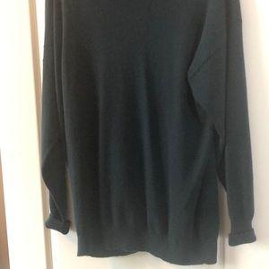 Cashmere pullover sweater. Medium. Dark teal